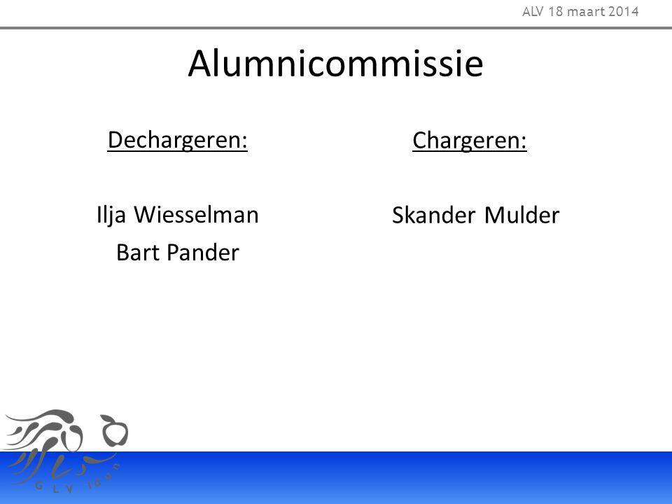 Alumnicommissie Dechargeren: Chargeren: Ilja Wiesselman Skander Mulder