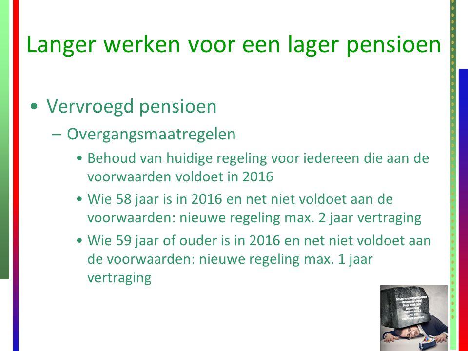 Langer werken voor een lager pensioen