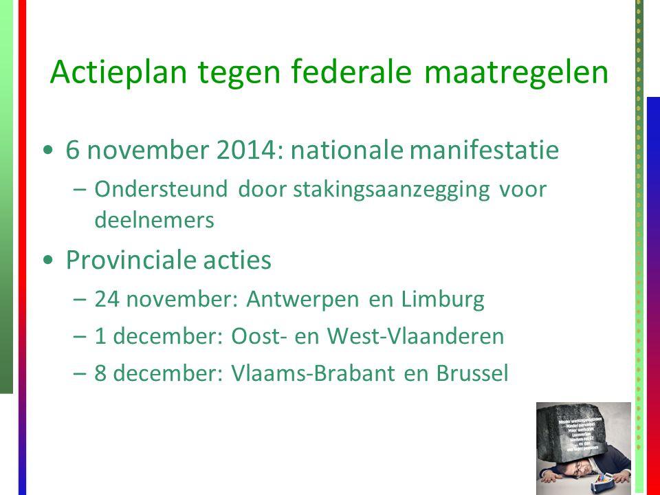Actieplan tegen federale maatregelen