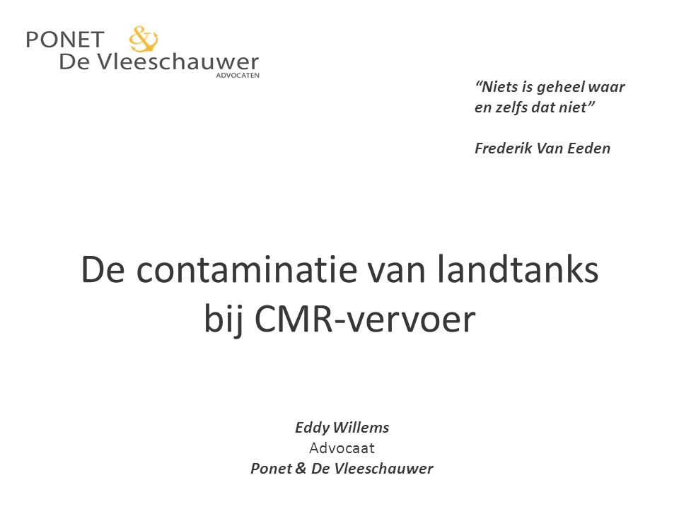 De contaminatie van landtanks bij CMR-vervoer
