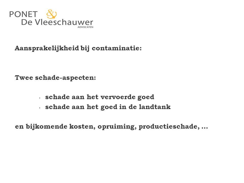 Aansprakelijkheid bij contaminatie: