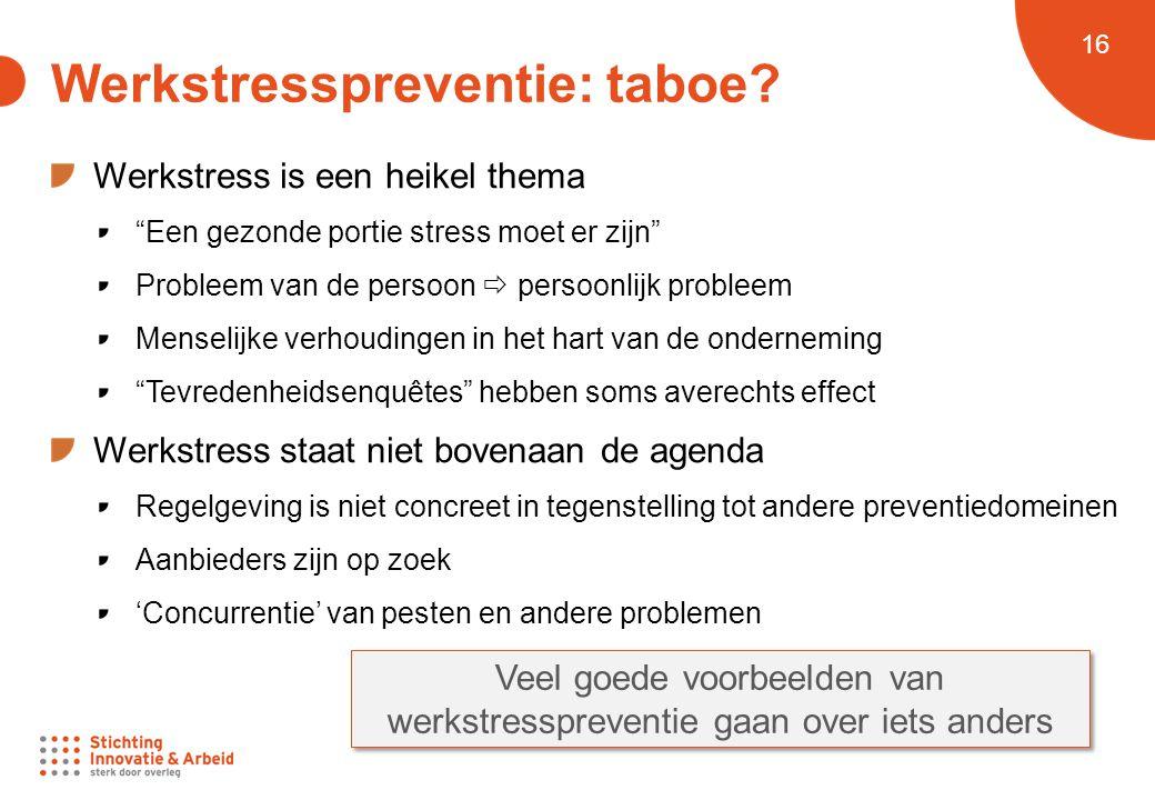 Werkstresspreventie: taboe