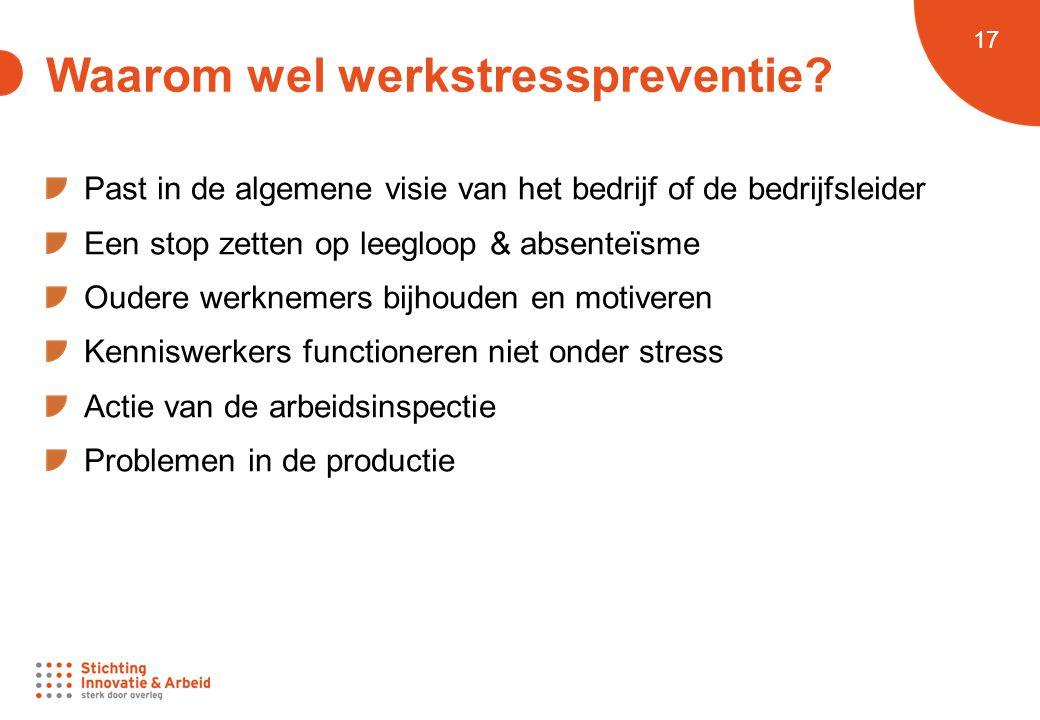 Waarom wel werkstresspreventie
