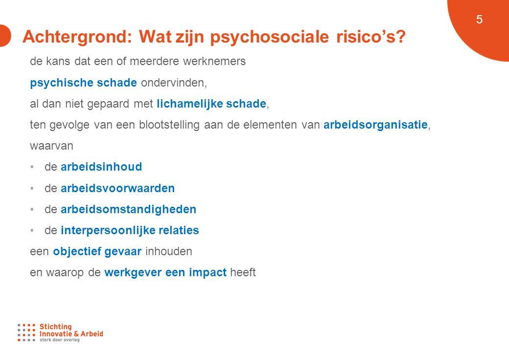 Achtergrond: Wat zijn psychosociale risico's