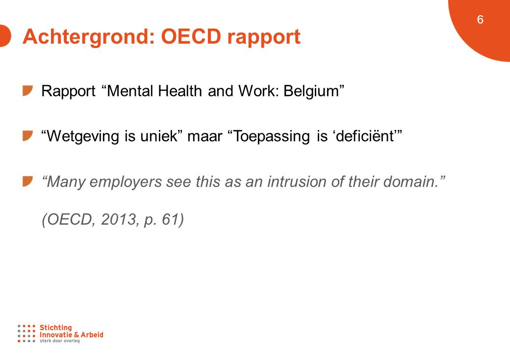 Achtergrond: OECD rapport