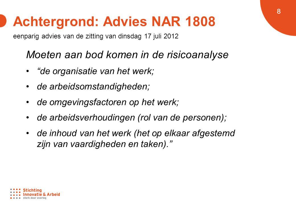 Achtergrond: Advies NAR 1808