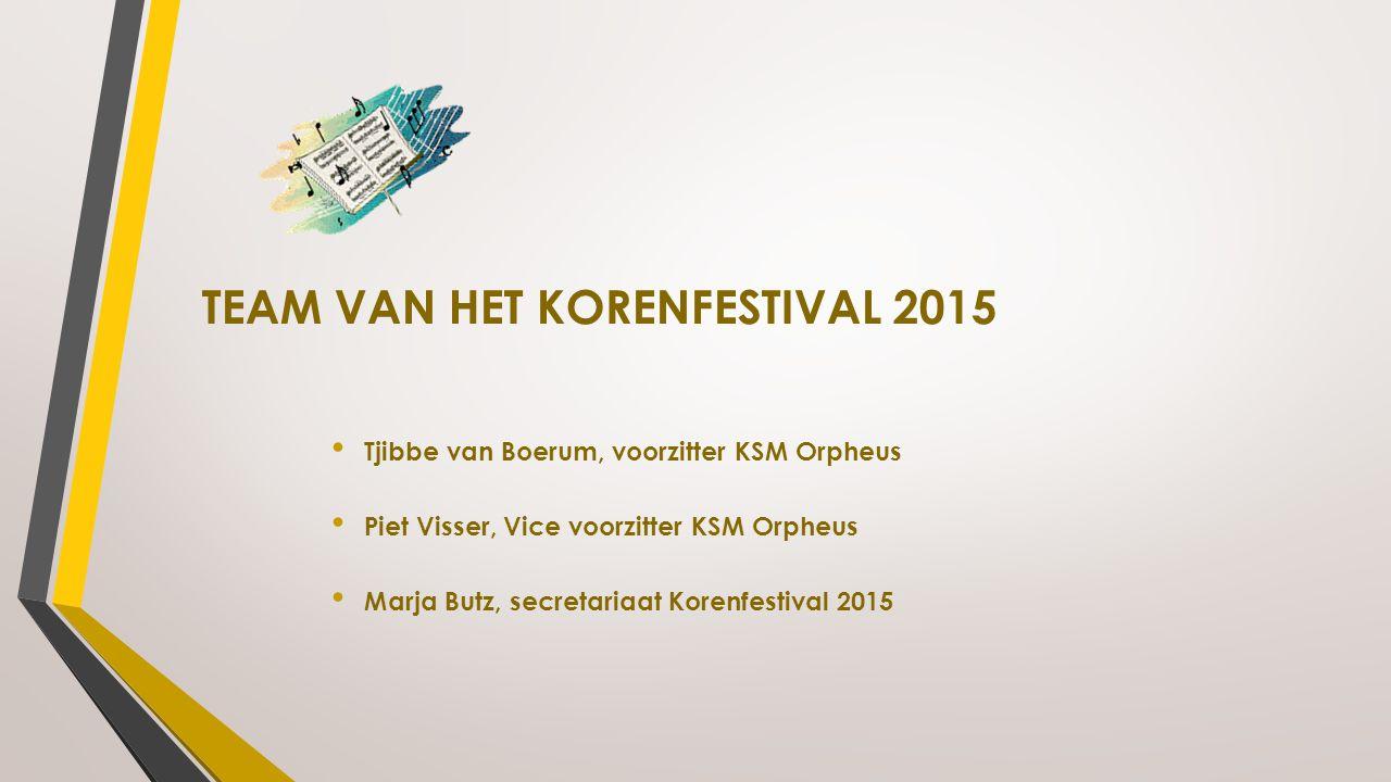 TEAM VAN HET KORENFESTIVAL 2015