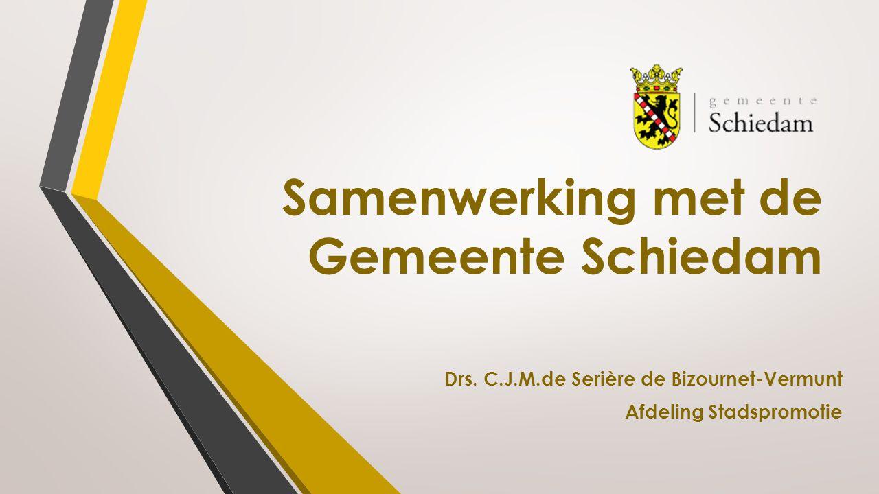 Samenwerking met de Gemeente Schiedam