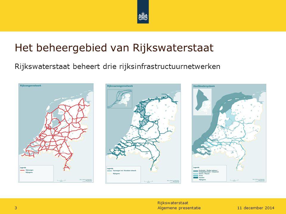 Het beheergebied van Rijkswaterstaat