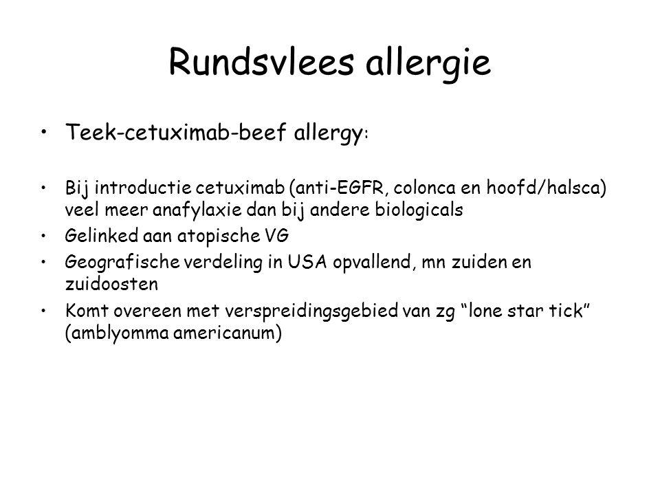 Rundsvlees allergie Teek-cetuximab-beef allergy: