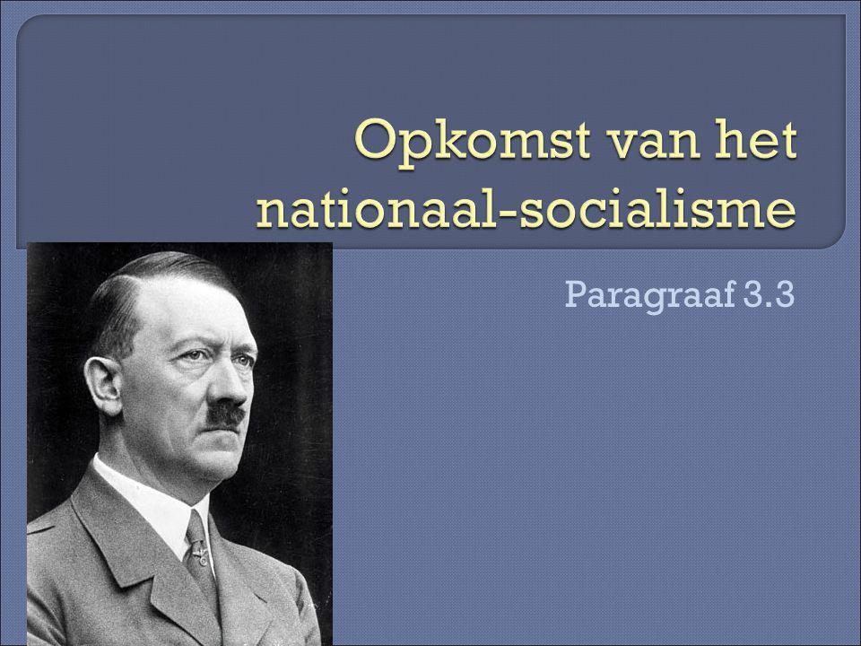 Opkomst van het nationaal-socialisme