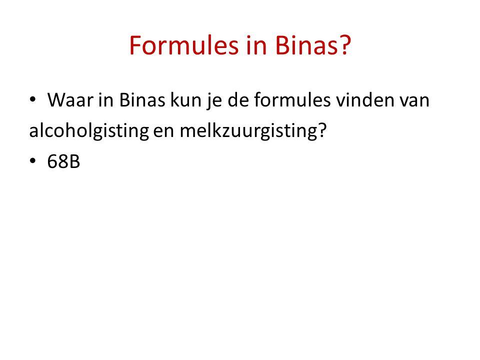 Formules in Binas Waar in Binas kun je de formules vinden van