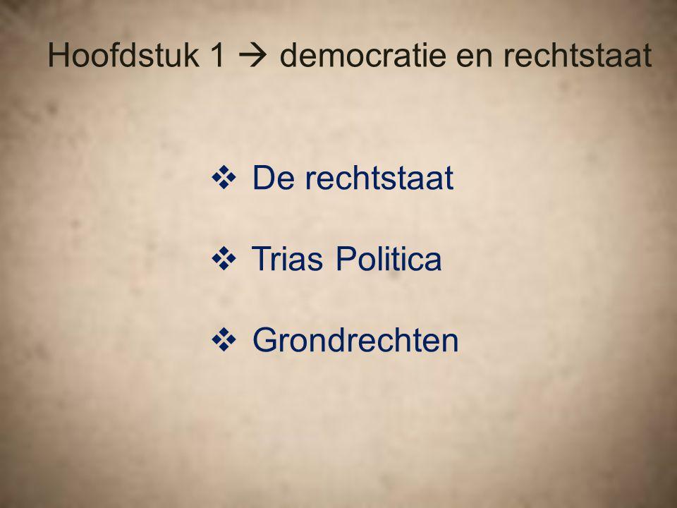 Hoofdstuk 1  democratie en rechtstaat