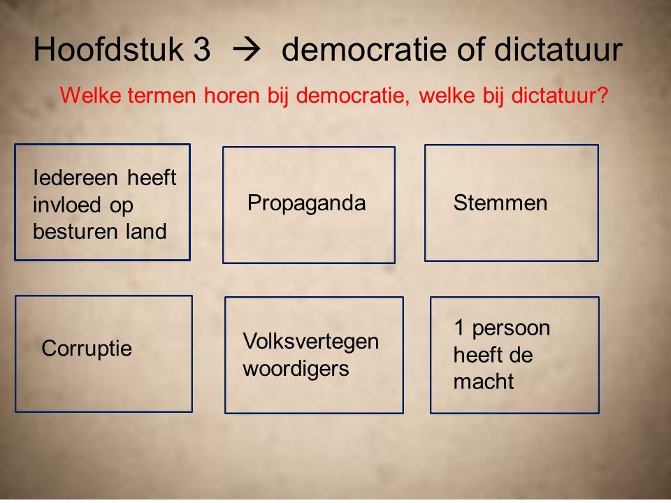 Hoofdstuk 3  democratie of dictatuur