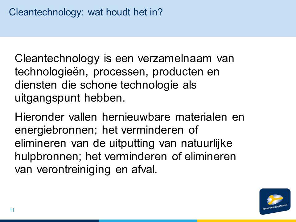 Cleantechnology: wat houdt het in