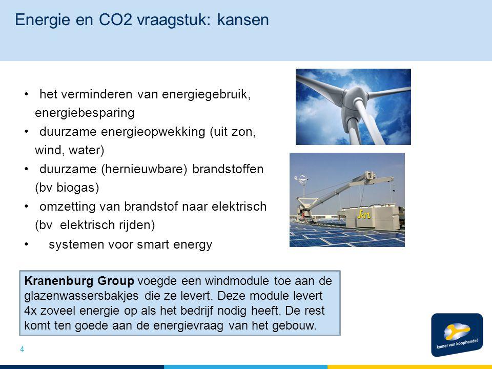 Energie en CO2 vraagstuk: kansen