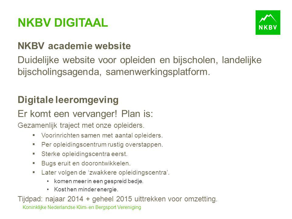 NKBV Digitaal NKBV academie website