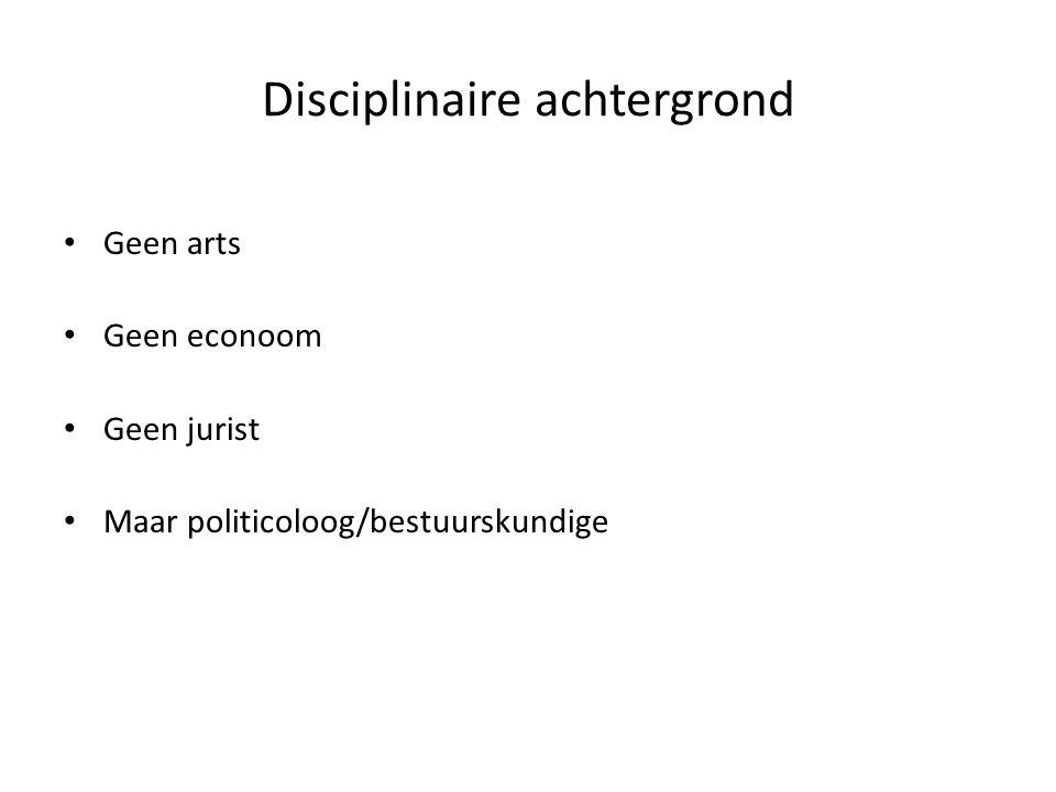 Disciplinaire achtergrond