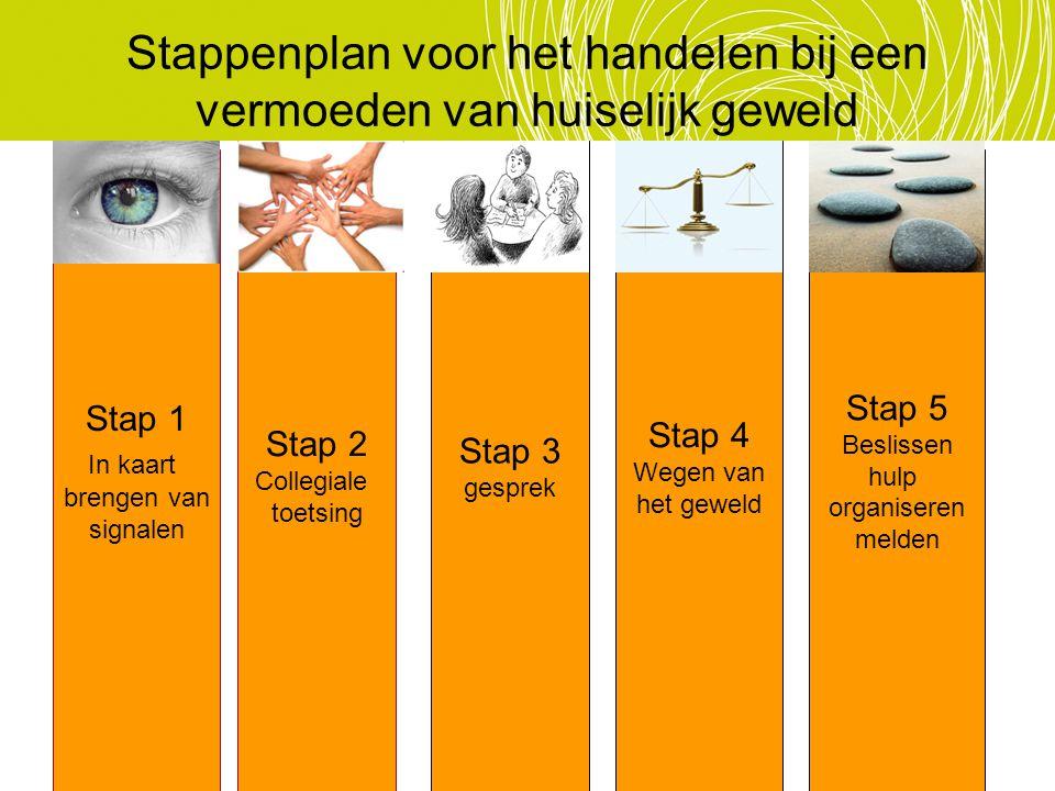 Stappenplan voor het handelen bij een vermoeden van huiselijk geweld