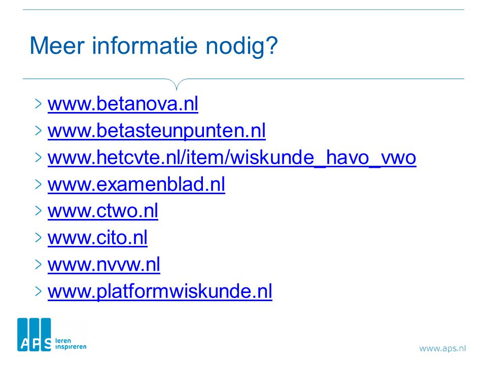 Meer informatie nodig www.betanova.nl www.betasteunpunten.nl