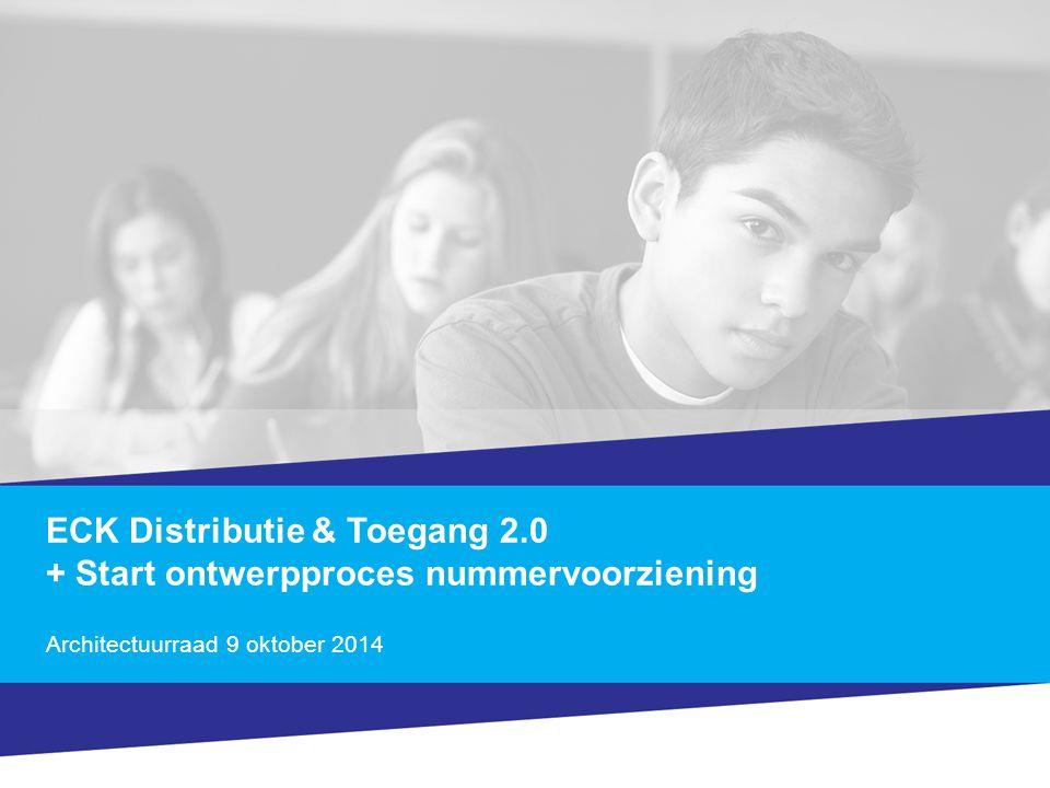 ECK Distributie & Toegang 2.0 + Start ontwerpproces nummervoorziening