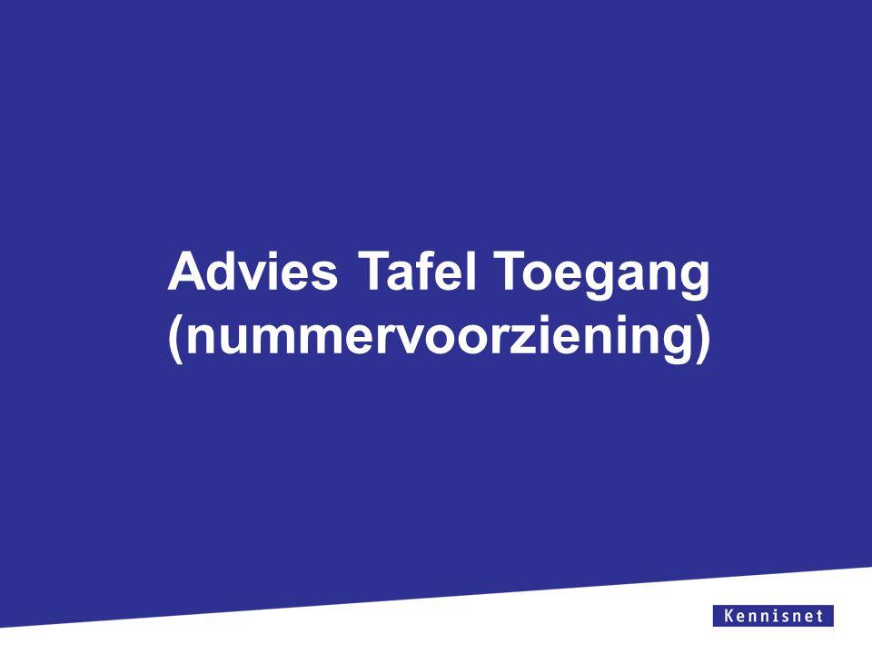 Advies Tafel Toegang (nummervoorziening)