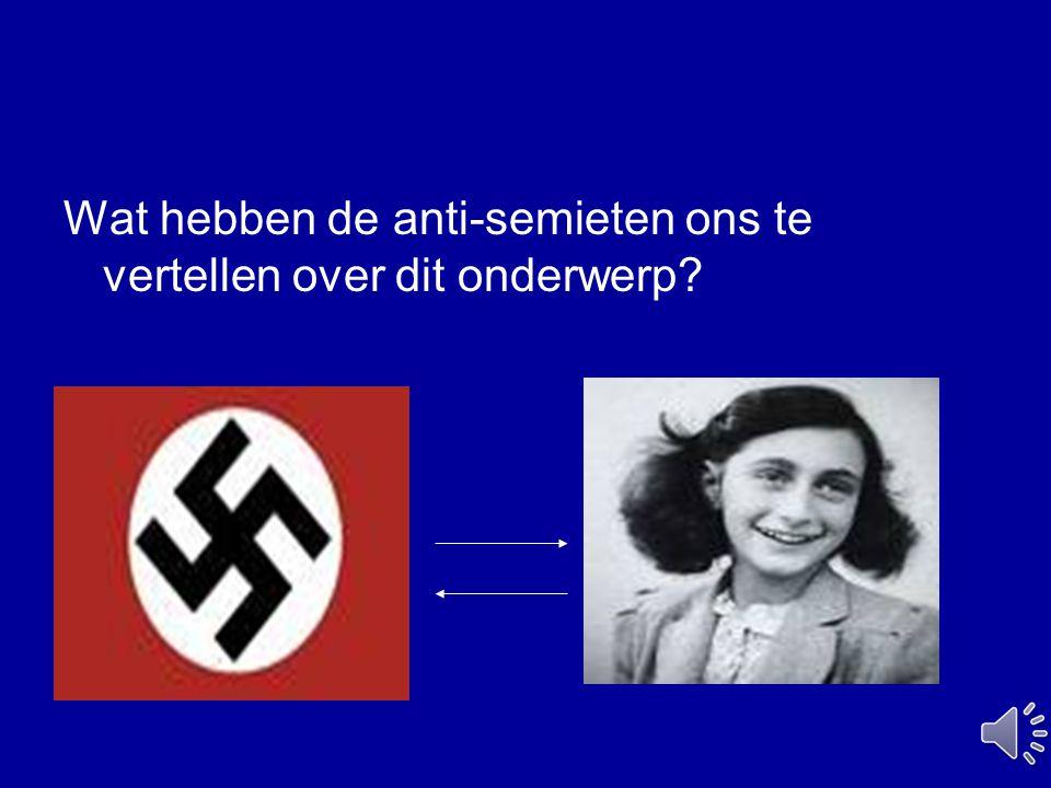Wat hebben de anti-semieten ons te vertellen over dit onderwerp