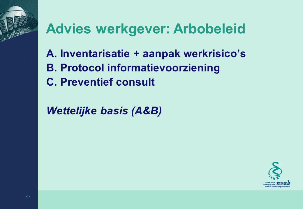 Advies werkgever: Arbobeleid