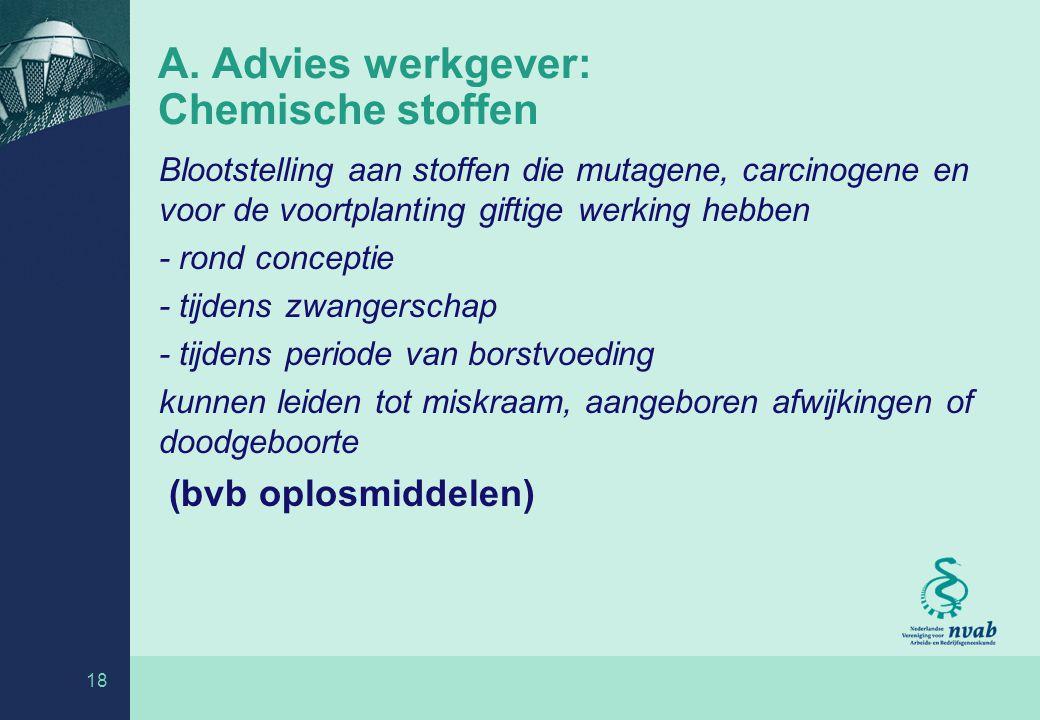 A. Advies werkgever: Chemische stoffen