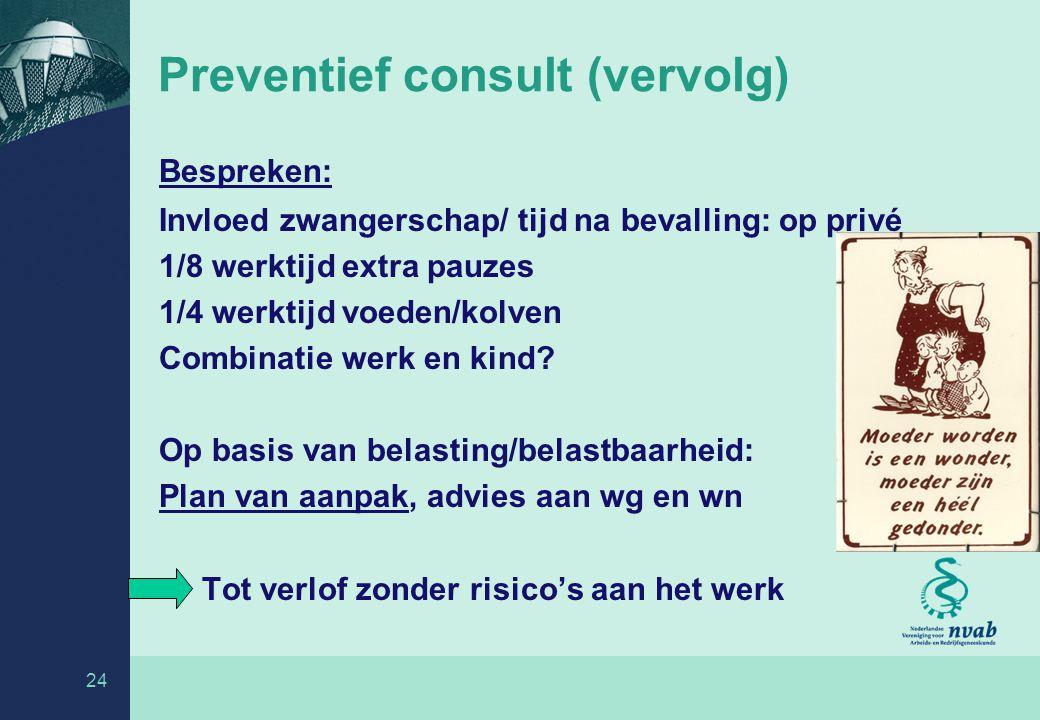 Preventief consult (vervolg)