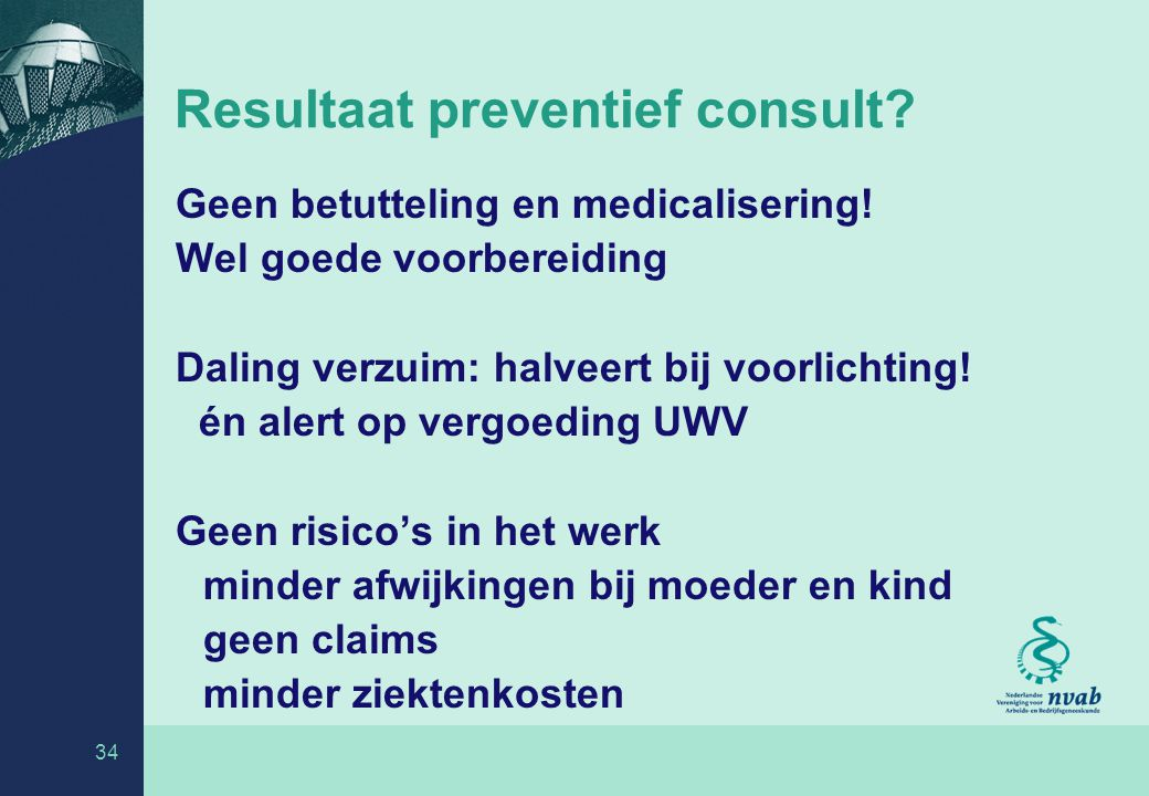 Resultaat preventief consult