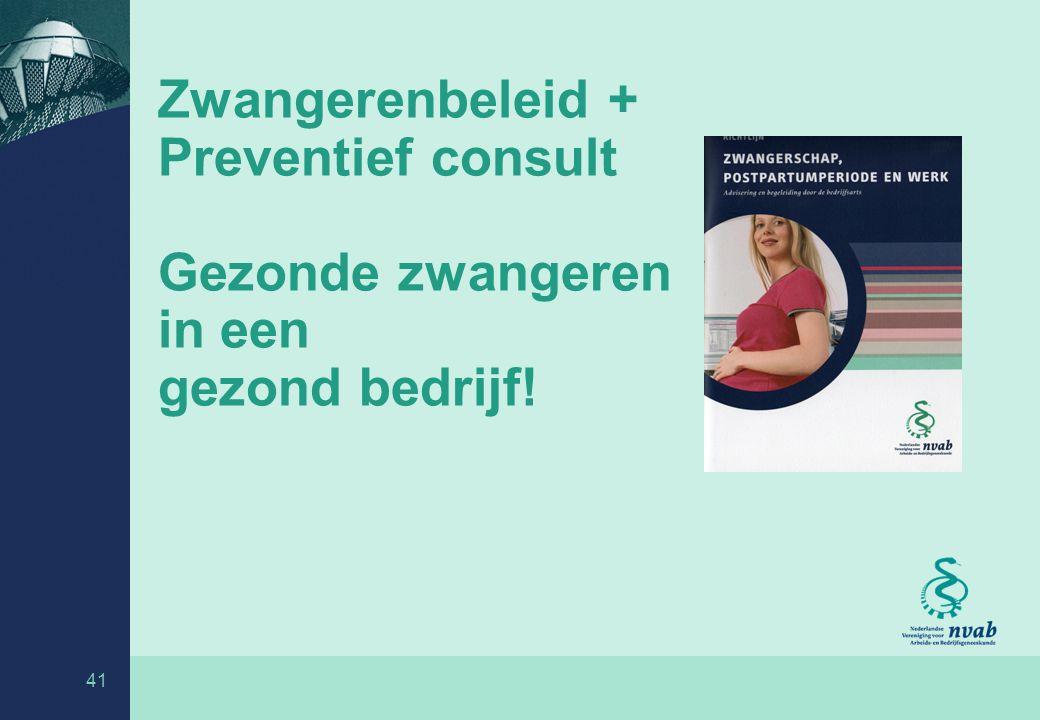 Richtlijn zwangerschap, postpartumperiode en werk