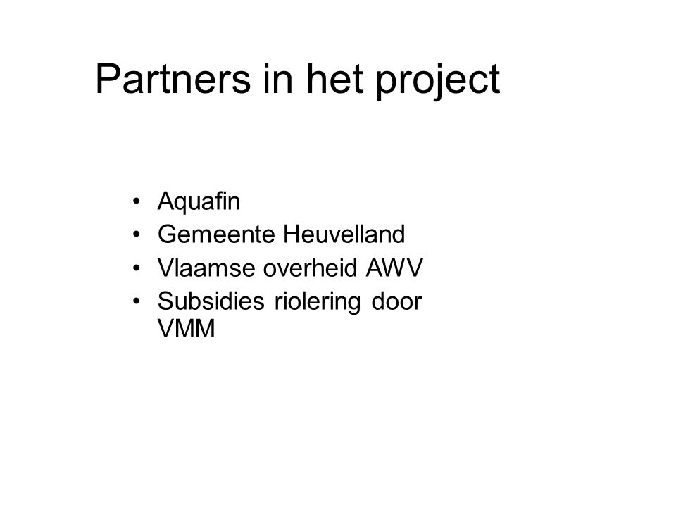 Partners in het project