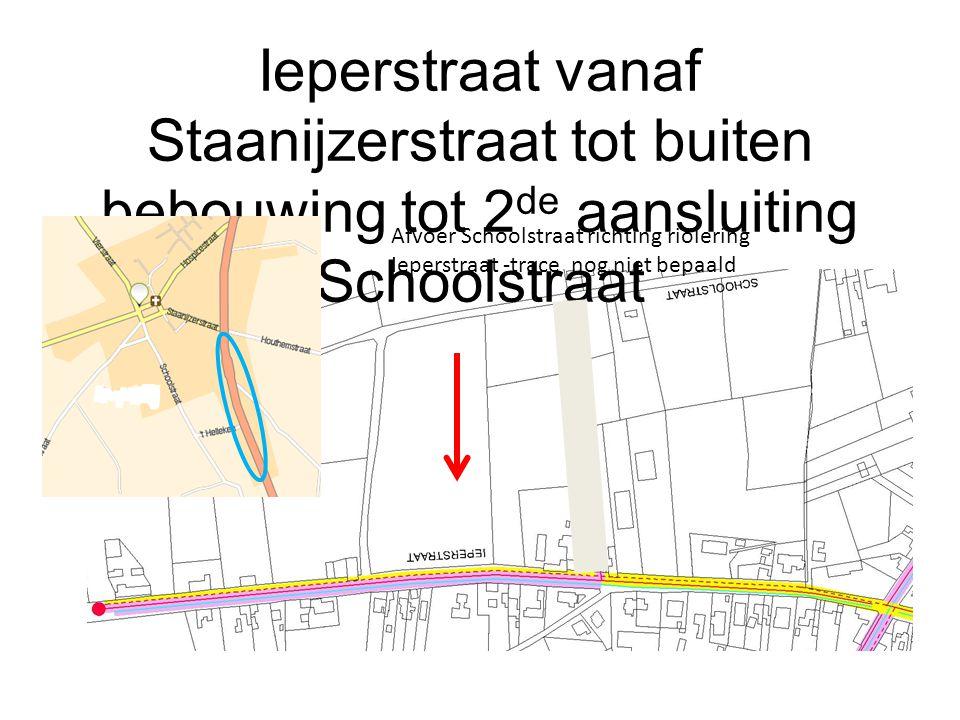 Ieperstraat vanaf Staanijzerstraat tot buiten bebouwing tot 2de aansluiting Schoolstraat
