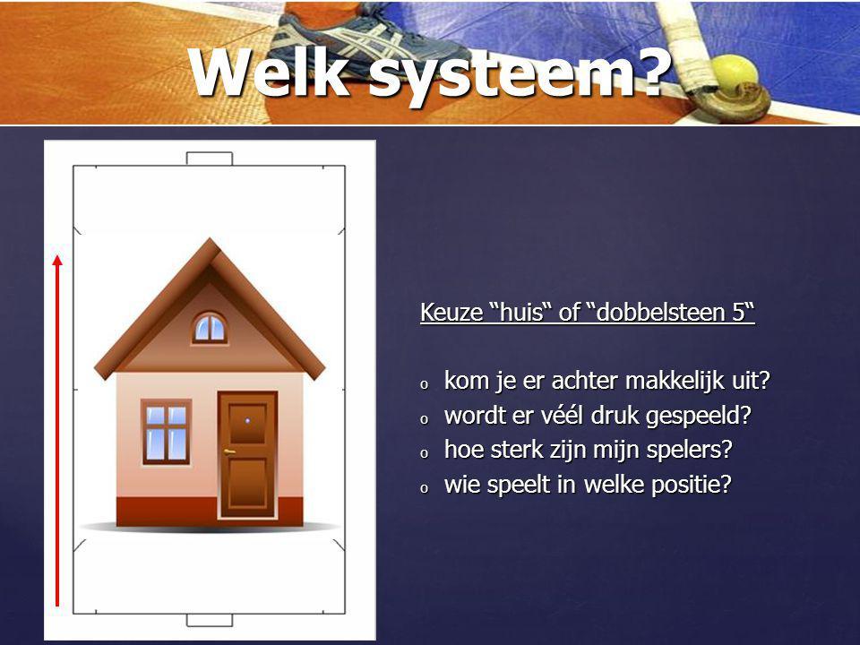 Welk systeem Keuze huis of dobbelsteen 5