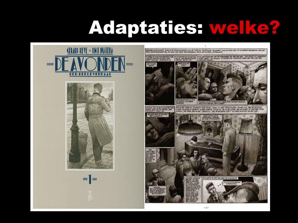 Adaptaties: welke. Verschillende onderzoekspunten onderscheiden – op die manier groeperen – bijv.