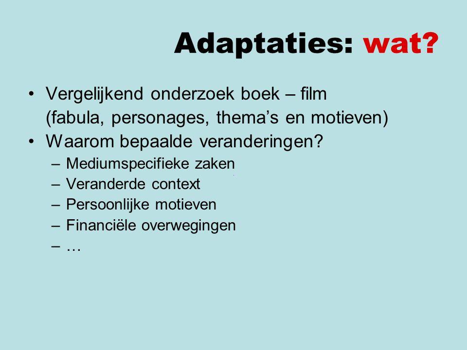 Adaptaties: wat Vergelijkend onderzoek boek – film