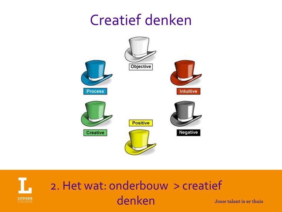 2. Het wat: onderbouw > creatief denken