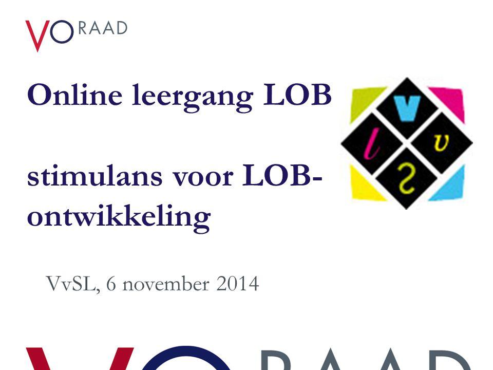 Online leergang LOB stimulans voor LOB-ontwikkeling