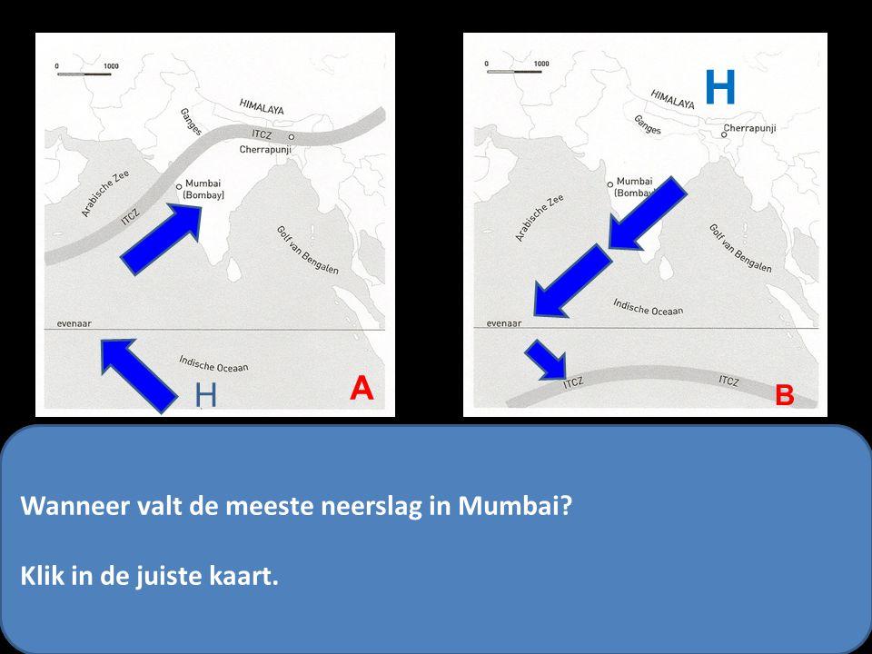 H A H B Wanneer valt de meeste neerslag in Mumbai