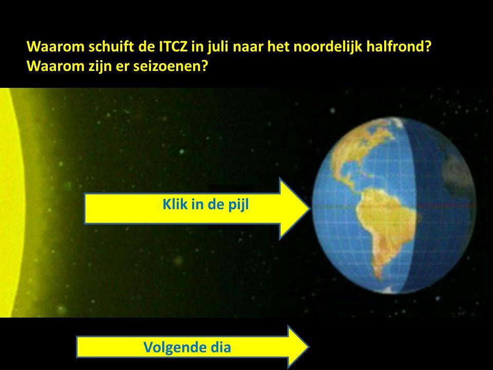 Waarom schuift de ITCZ in juli naar het noordelijk halfrond