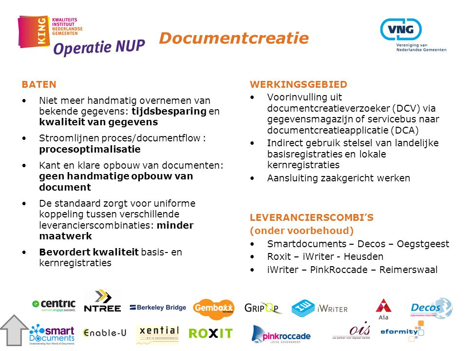 Documentcreatie BATEN