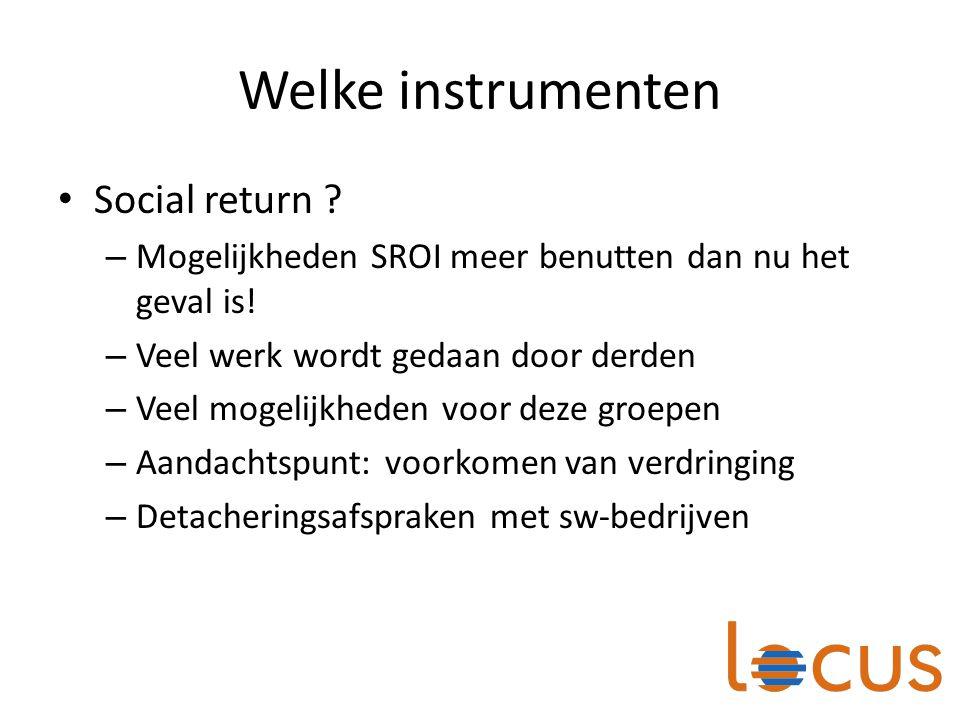 Welke instrumenten Social return