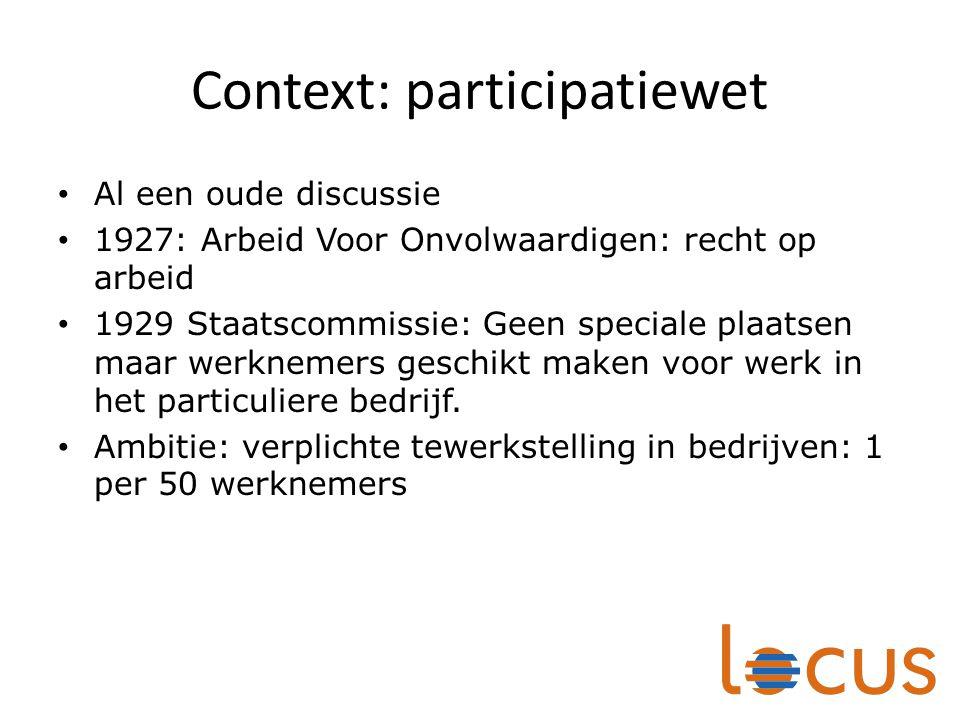 Context: participatiewet