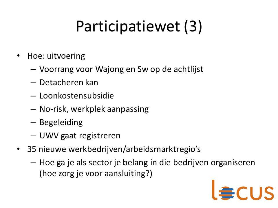 Participatiewet (3) Hoe: uitvoering
