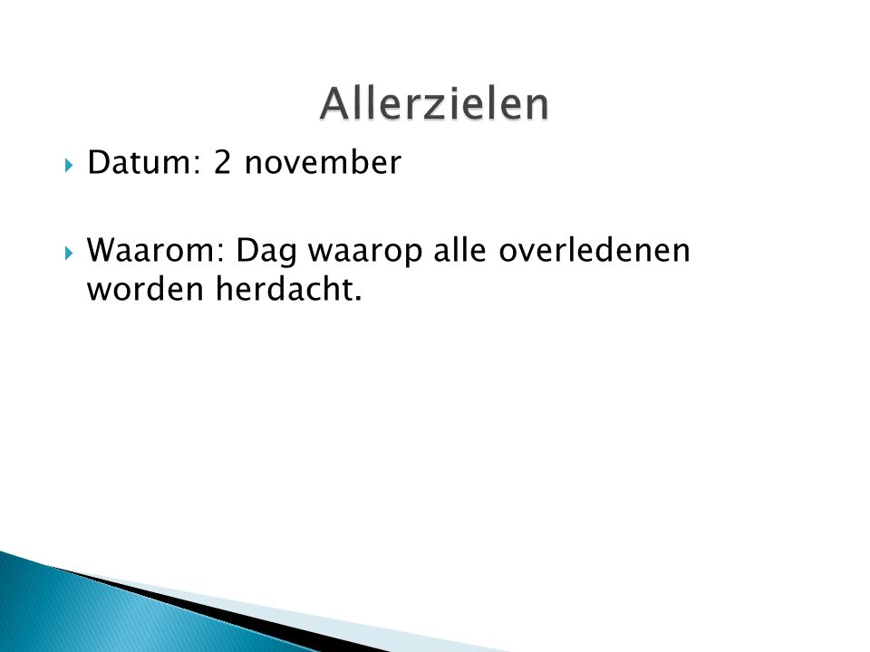Allerzielen Datum: 2 november