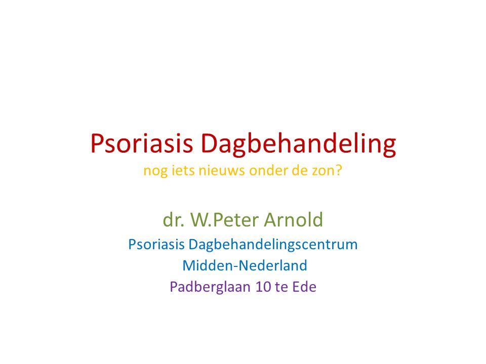 Psoriasis Dagbehandeling nog iets nieuws onder de zon