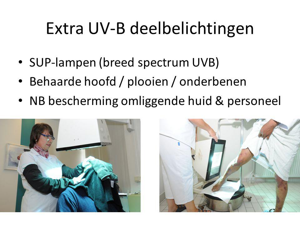 Extra UV-B deelbelichtingen