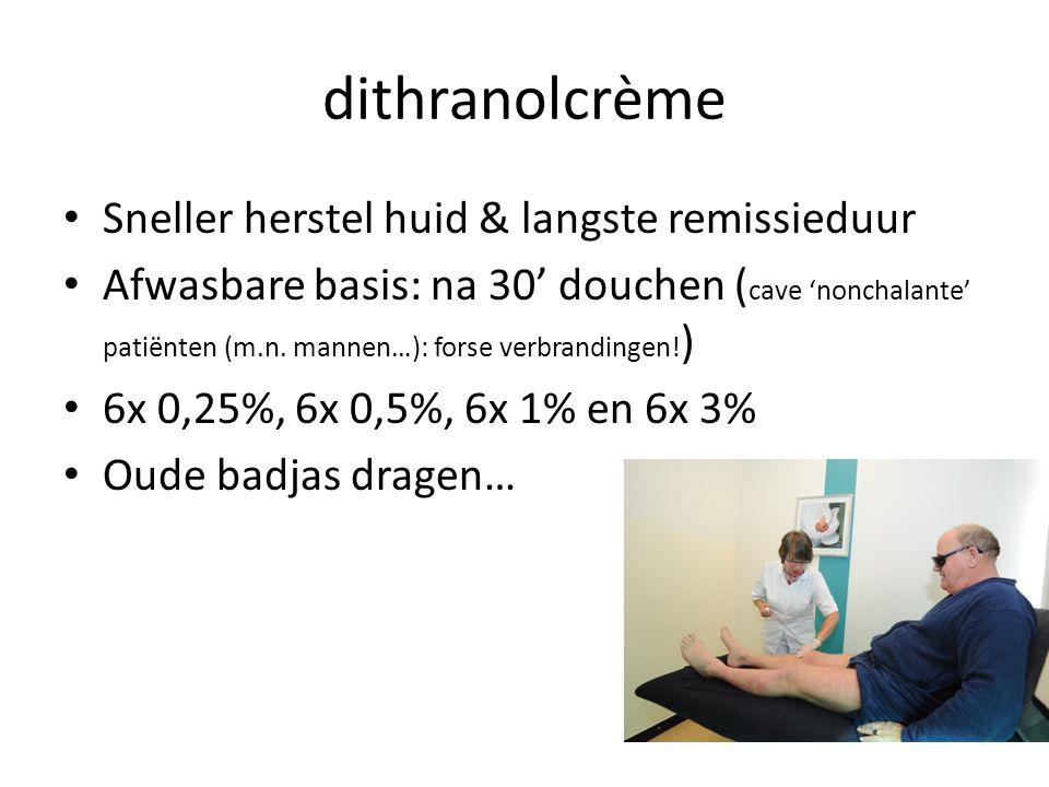 dithranolcrème Sneller herstel huid & langste remissieduur