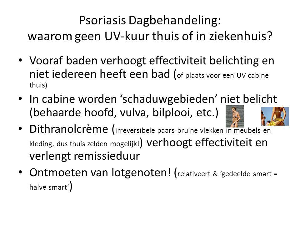 Psoriasis Dagbehandeling: waarom geen UV-kuur thuis of in ziekenhuis